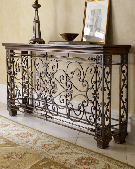 Ambella Wrought Iron Console