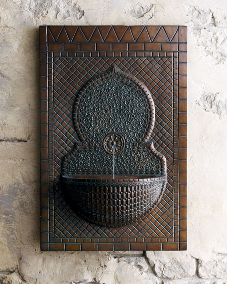 Mosaic Tile Wall Fountain