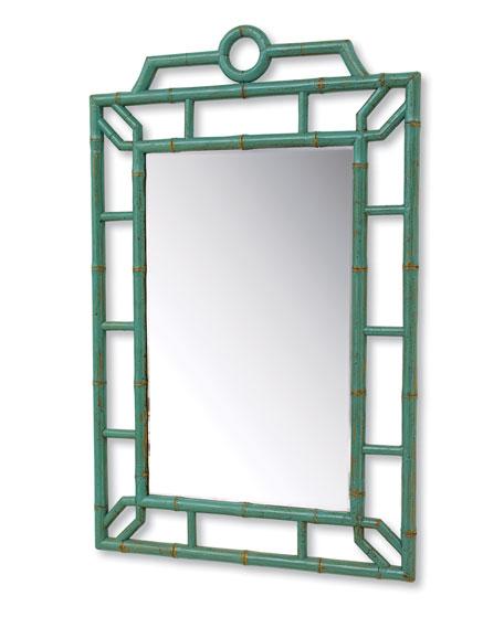 "Aqua ""Bamboo"" Mirror"