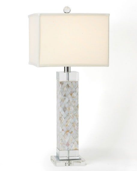 Mother Of Pearl Accent Lamp: Regina-Andrew Design Mother-of-Pearl Table Lamp