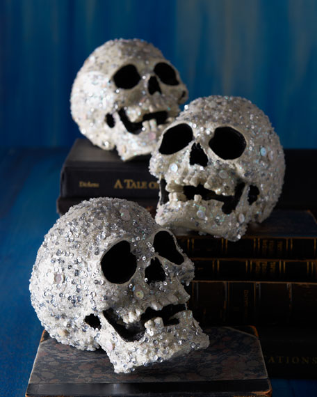 Encrusted Halloween Skull