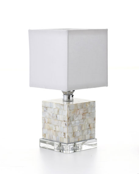 Mother-of-Pearl Mini Cube Lamp