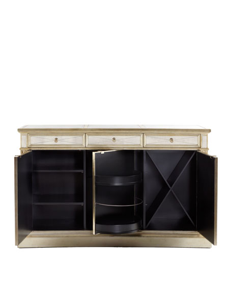 """Amelie"" Three-Door Mirrored Console"