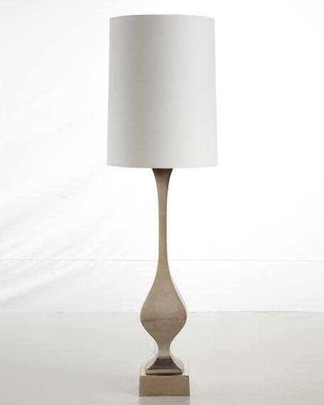 Two Aluminum Buffet Lamps