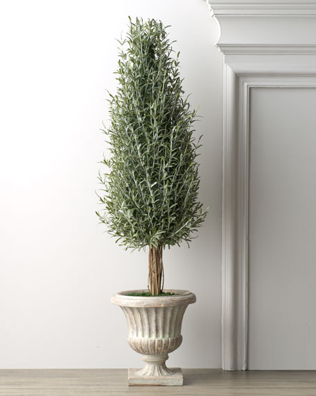 Faux Rosemary Tree in Urn