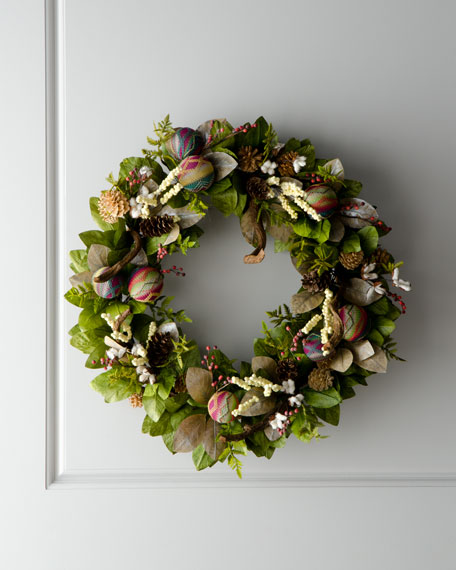 """Artisan"" Christmas Wreath"