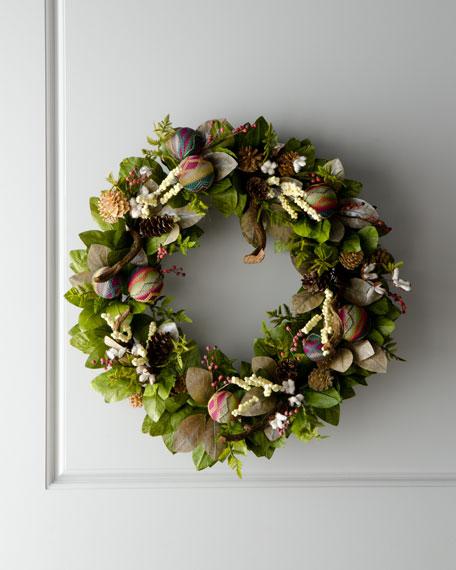 """Artisan"" Christmas Wreath"