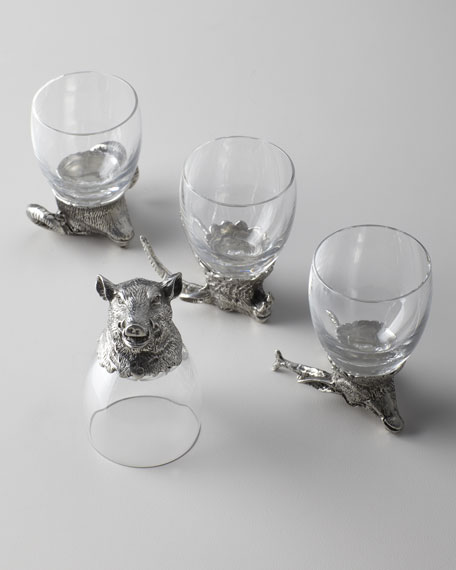"""Animale"" Liqueur Glasses"