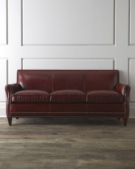 """Cantrell"" Leather Sofa"