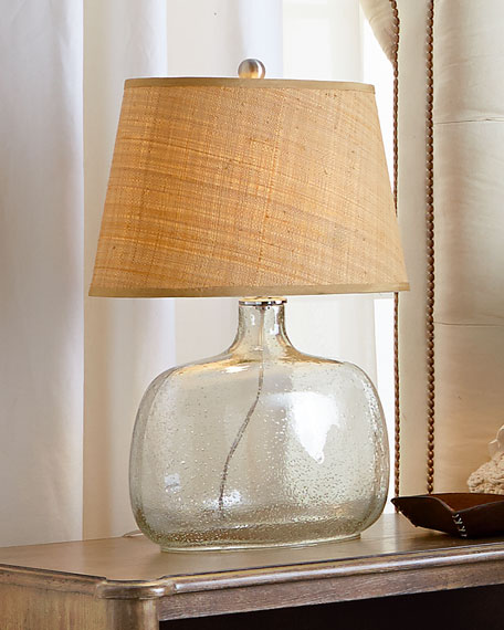 Seeded Gl Table Lamp
