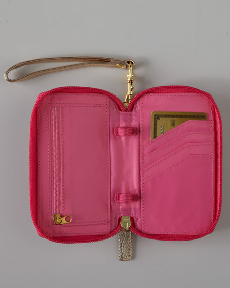 "Pink ""Spike the Punch"" iPhone Wristlet"