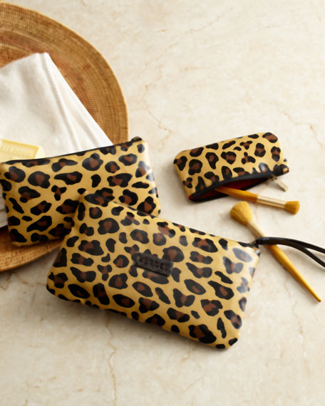 "Three ""Leopard"" Cosmetic Bags"
