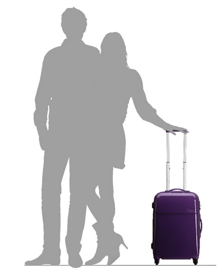 "Purple Four-Wheeled 22"" Carry-On"