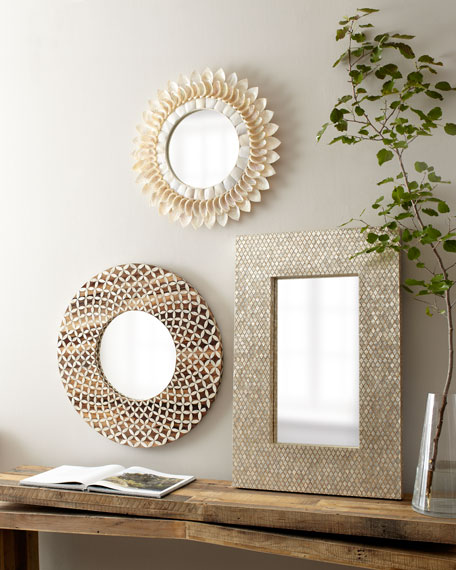 Floral Capiz Mirror