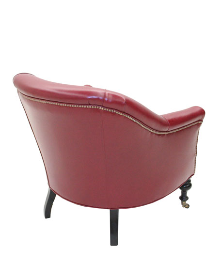 """Harlequin"" Red Club Chair"
