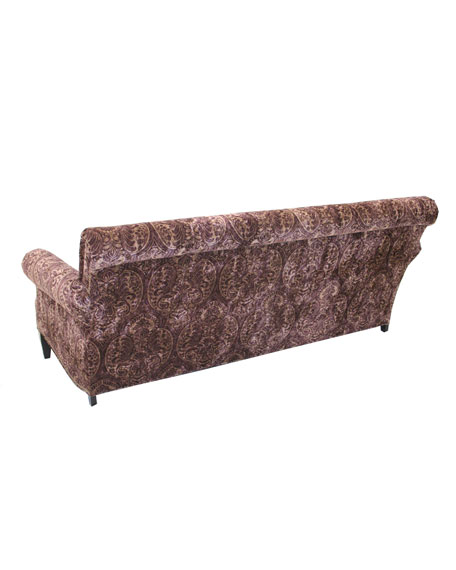 Paisley Merlot Sofa