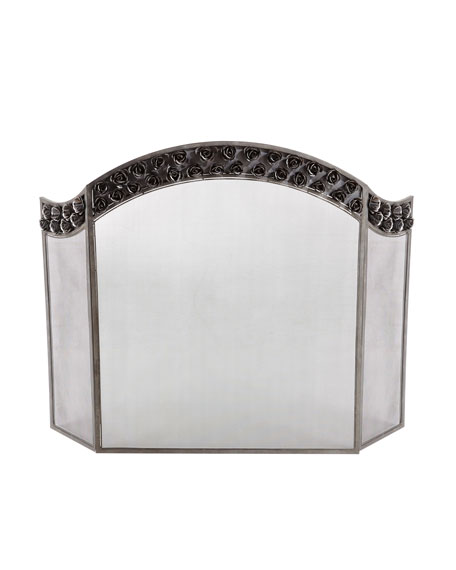 """Arched Rose"" Fireplace Screen"