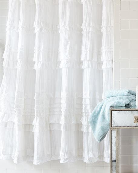 """Flores"" Shower Curtain"