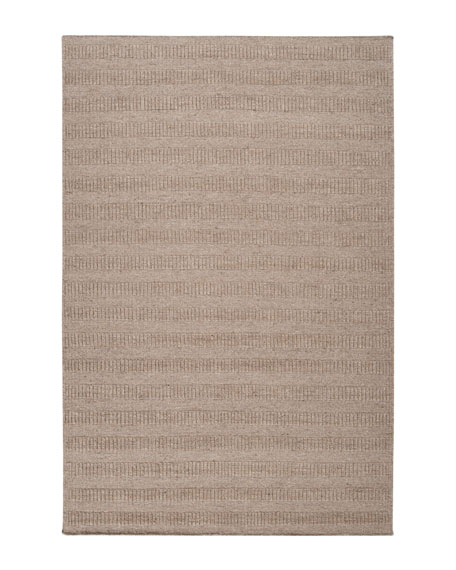 """Neutral Bars"" Rug, 9' x 13'"