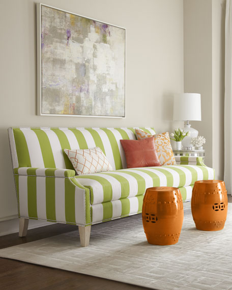 """Appletini"" Striped Sofa"