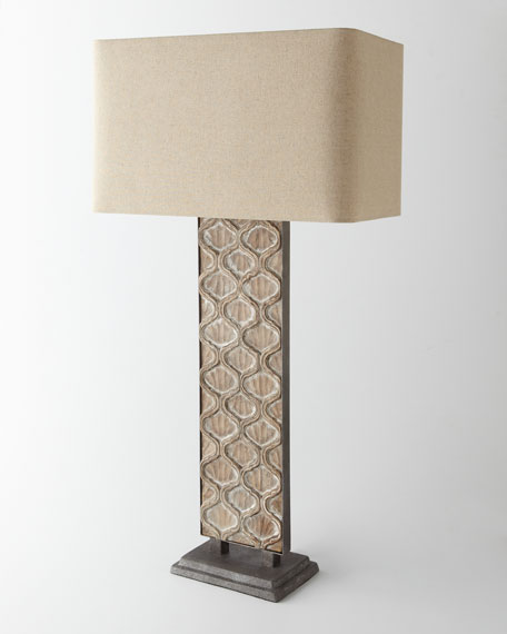 Carved Panel Table Lamp