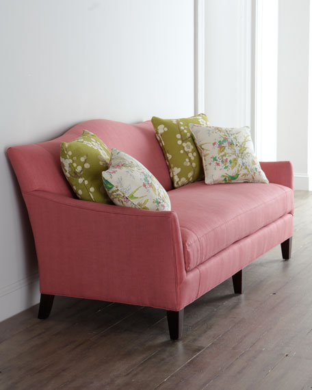 """Priddy"" Raspberry Sofa"