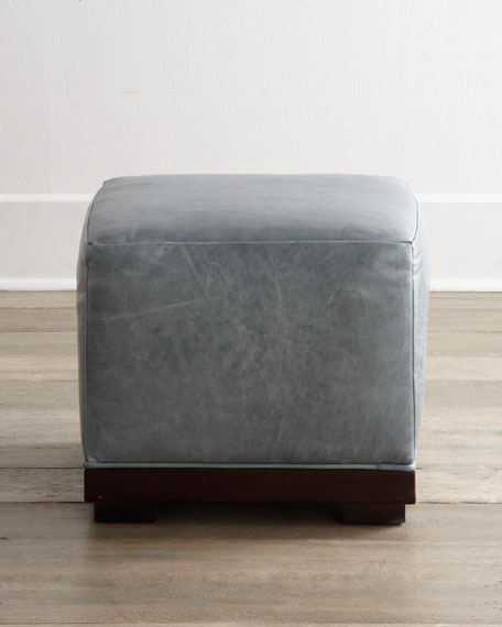 """Charco"" Leather Ottoman"