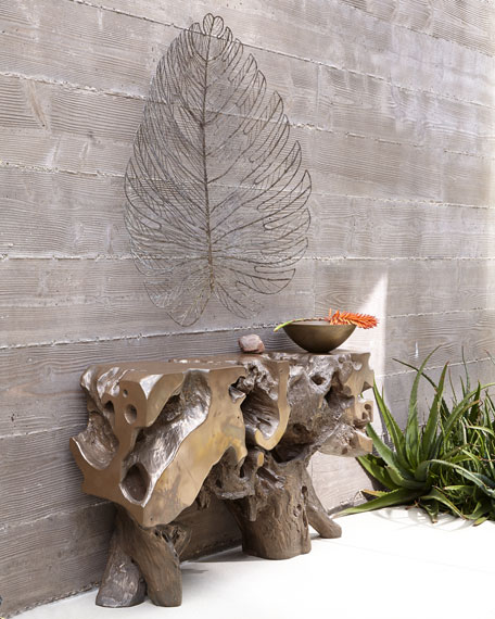 Metal Leaves Wall Decor giant metal leaf wall decor