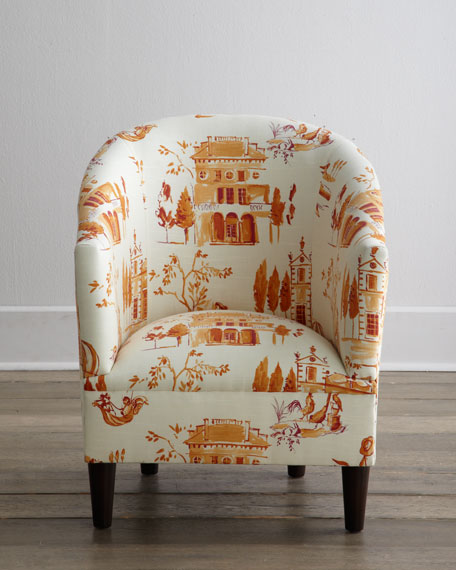 Tangerine Tub Chair