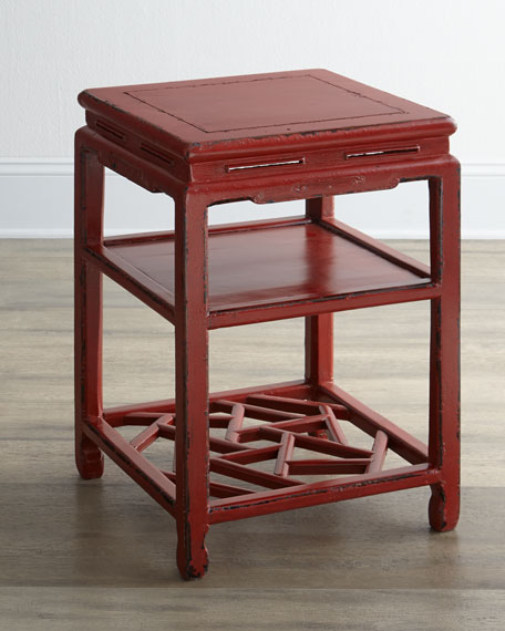 Antique Red Side Table