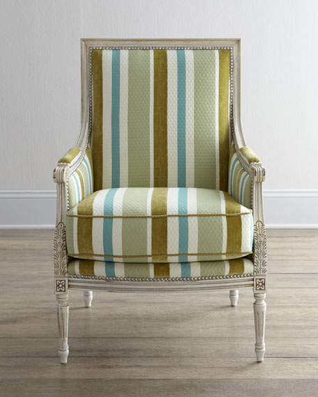 """Jenilynn"" Striped Chair"