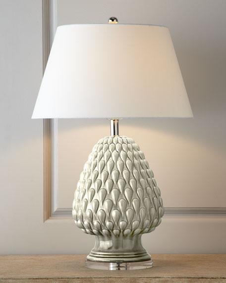 "Porcelain ""Artichoke"" Lamp"