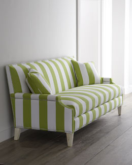 "Massoud ""Appletini"" Striped Sofa"