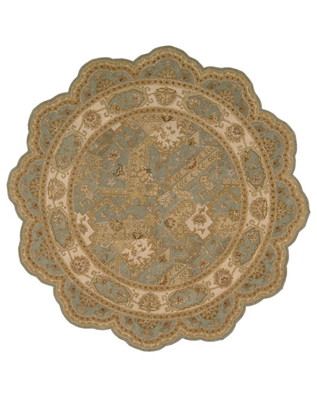 ROSHAN 6' SCALLOPED RUG