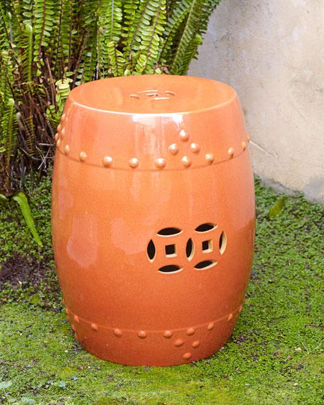 Orange Garden Seat