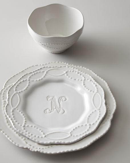 & 12-Piece Monogrammed Dinnerware Service