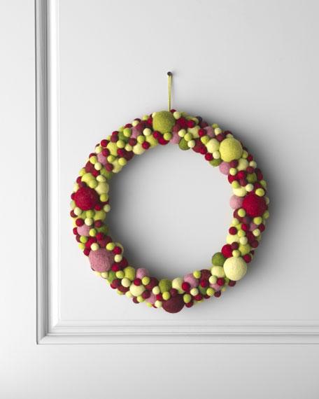 """""""Artisan"""" Ball Christmas Wreath"""
