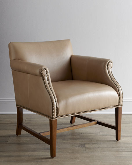 """Preston"" Leather Chair"
