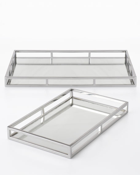 Two Silver Trays