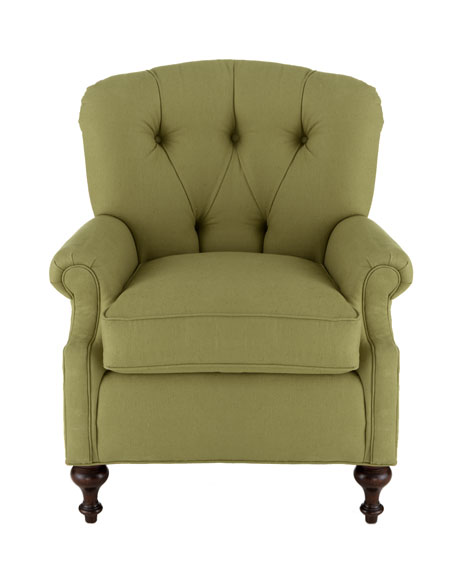 """""""Iva"""" Tufted-Back Chair"""