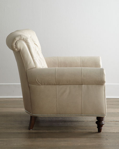 """""""Starlite"""" Leather Chair"""
