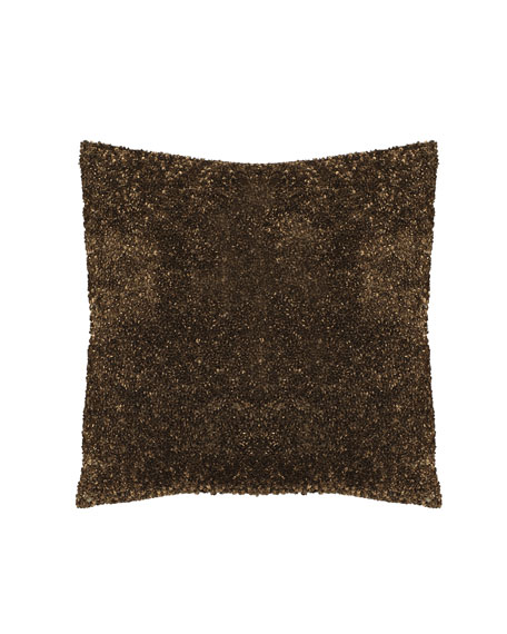 "Sequined Pillow, 16""Sq."
