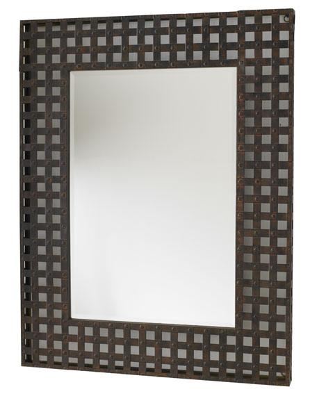 Metal-Framed Mirror