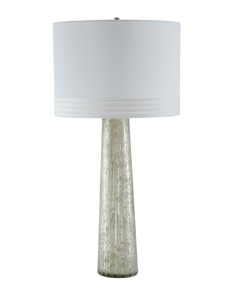 """Silver Pillar"" Table Lamp"