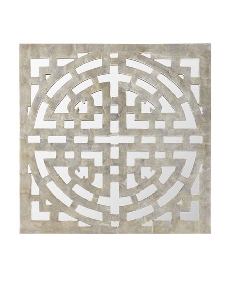 Geometric Capiz Mirror