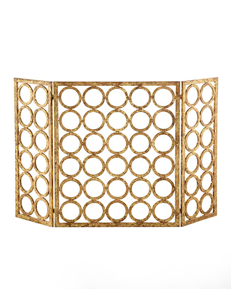 """Golden Circles"" Fireplace Screen"