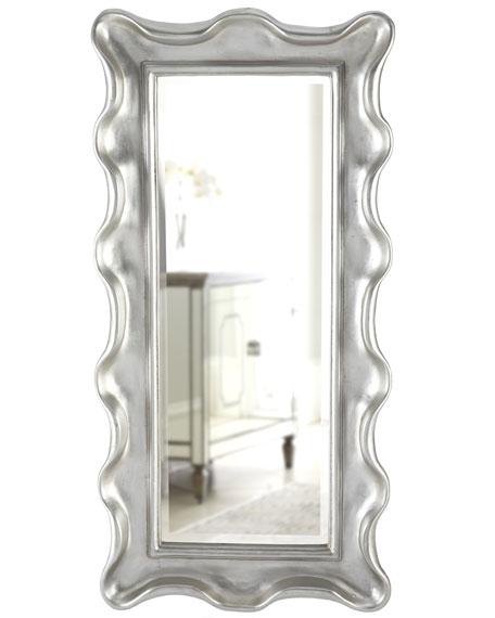 """""""Silver Frill-Edge"""" Mirror"""