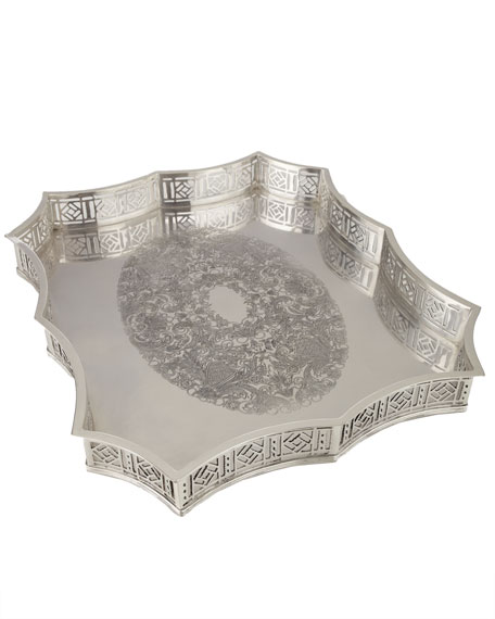 Scalloped-Edge Metal Tray