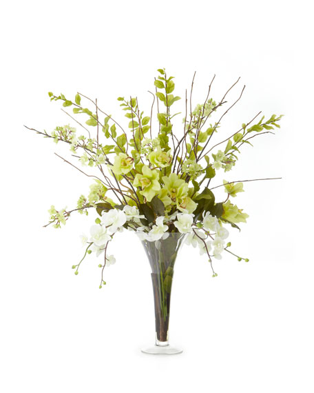 Lush Greenery Faux Floral Arrangement