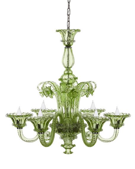 Green glass chandelier aloadofball Gallery
